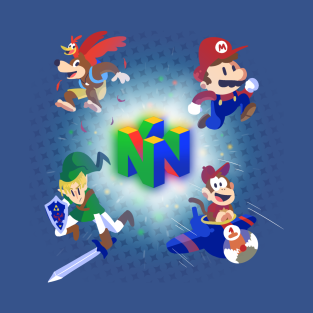 Nintendo 64 All-Stars t-shirts