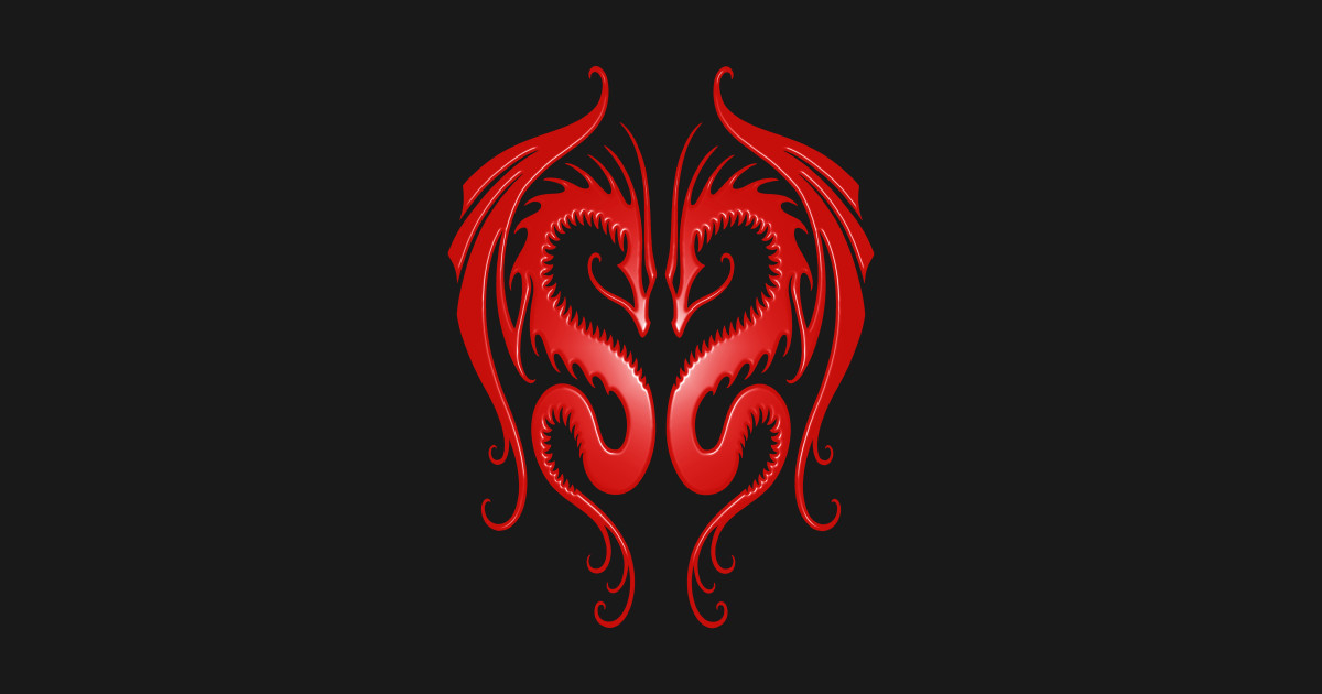 Twin Tribal Red Dragons Dragon T Shirt Teepublic