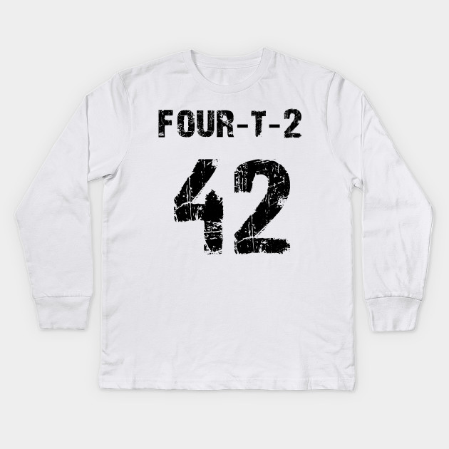Number 42 Sports Fan Or Vintage Birthday Shirt Kids Long Sleeve T