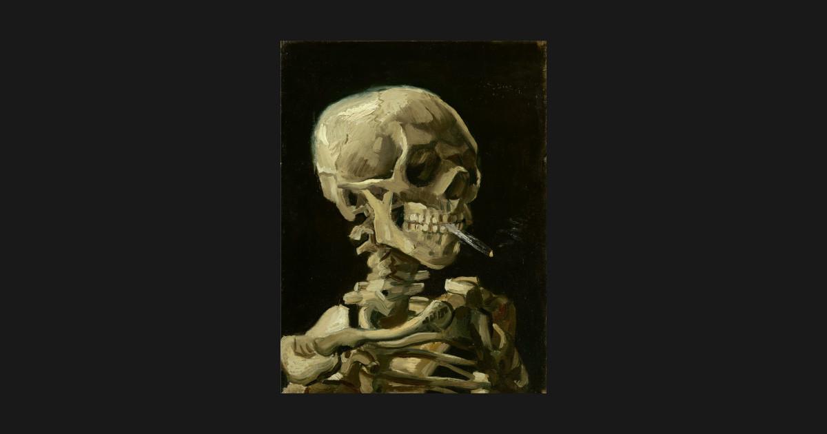 4c9e2b45 Van Gogh, Skull of a Skeleton with Burning Cigarette, 1885–86 T-Shirt