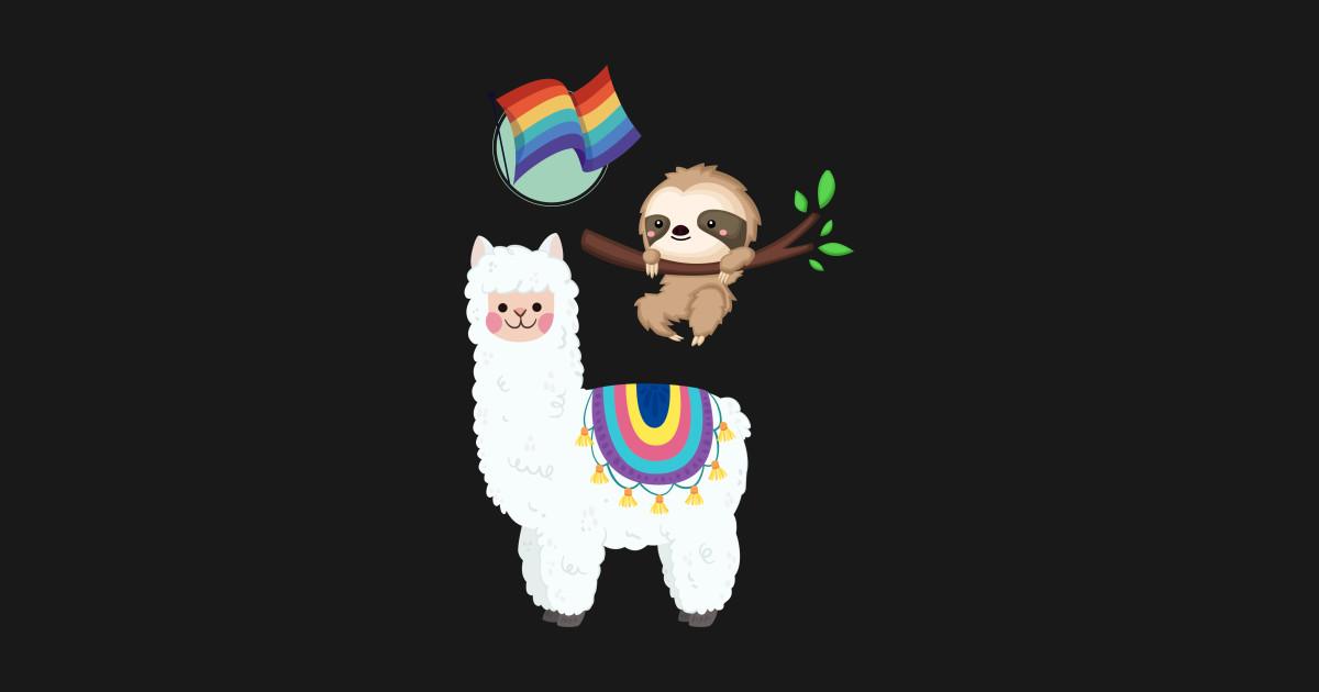 Llama Sloth LGBT - Lgbt - Sticker   TeePublic