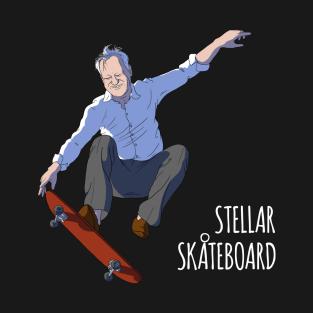 Stellar Skateboard! t-shirts