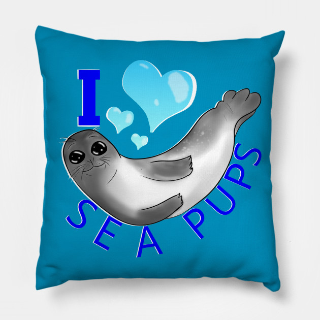 I 3 Sea Pups Animals Pillow Teepublic