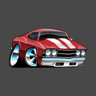 e2b6d32d Classic American Muscle Car Cartoon T-Shirt