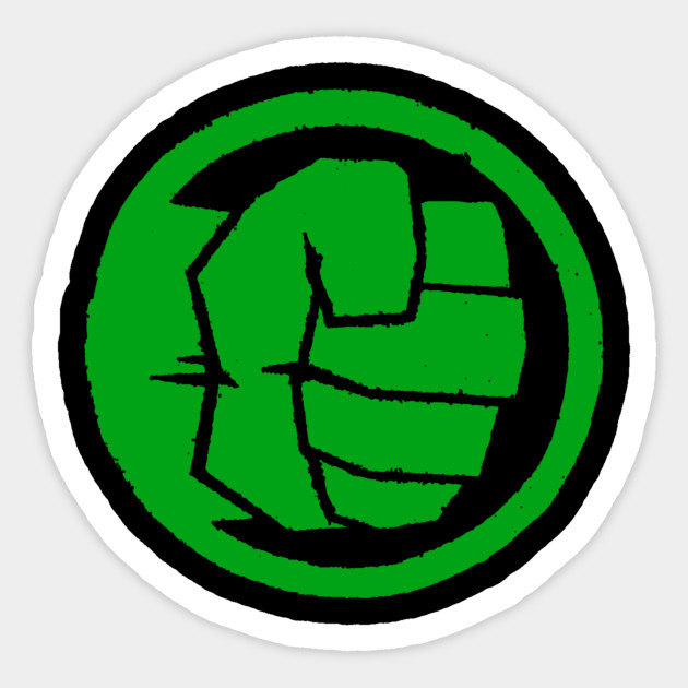Hulk Fist Bump Heroes Sticker Teepublic