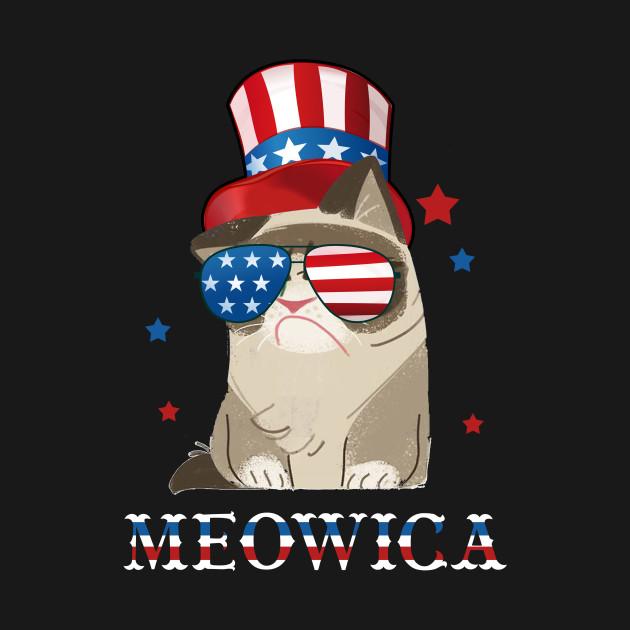 a534c629d597 ... Cat 4th of July T shirt Meowica Merica Men USA American Flag Tank Top