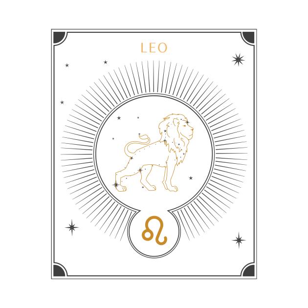 Leo   Astrology Zodiac Sign Design