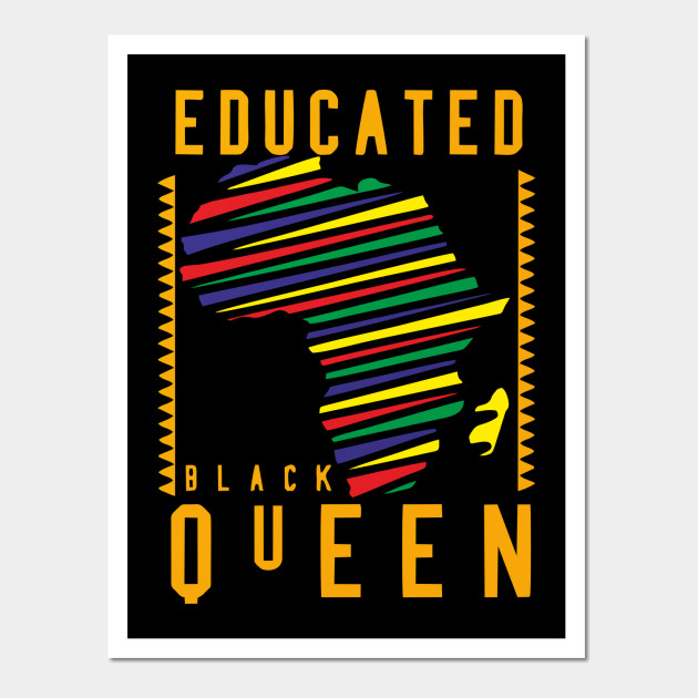 Educated Black Queen TShirt Vintage Africa Retro Gift