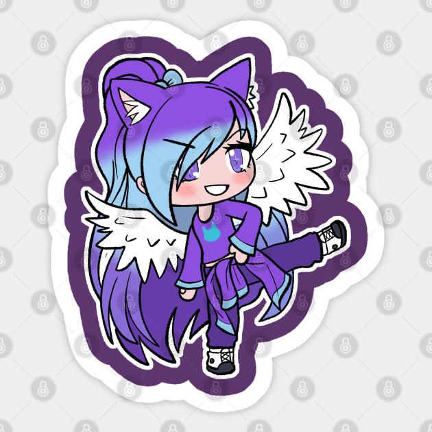 Purple Gacha Character Gacha Sticker Teepublic