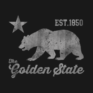 1850 California The Golden State t-shirts