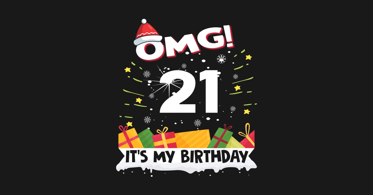 OMG Its My 21st Birthday Gift Funny Christmas Gifts Tapestry