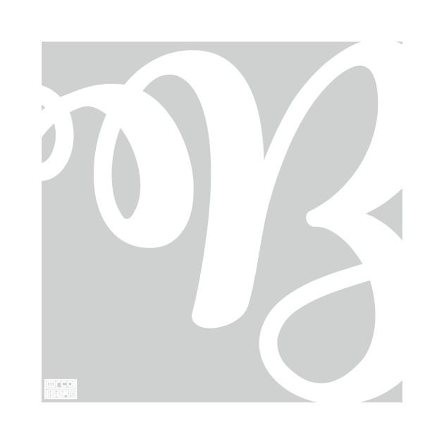 Letter B Elegant Cursive Calligraphy Initial Monogram