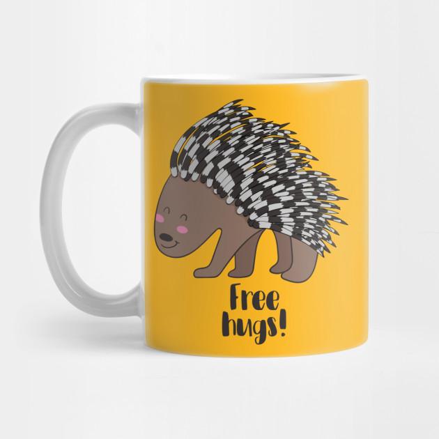 a4cb33ee6 Free Hugs- Cute Porcupine - Porcupine - Mug | TeePublic