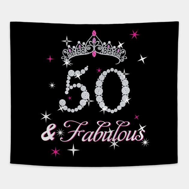Fab 50 People: 50th Birthday T-shirt. Fifty And Fabulous T Shirt For