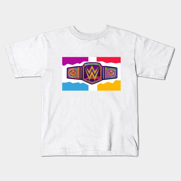 2b01c7b8c Wrestling World Championship Belt - Championship Belt - Kids T-Shirt ...