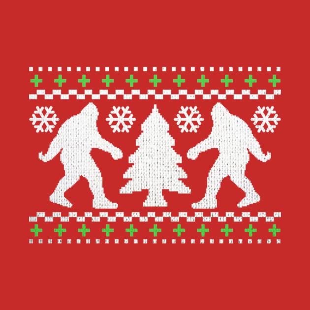 Funny Bigfoot Ugly Christmas Holiday Sweater