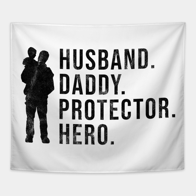 ceea7ad1 Mens Fathers Day Gift Husband Daddy Protector Hero Cool Dad Shirt Tapestry