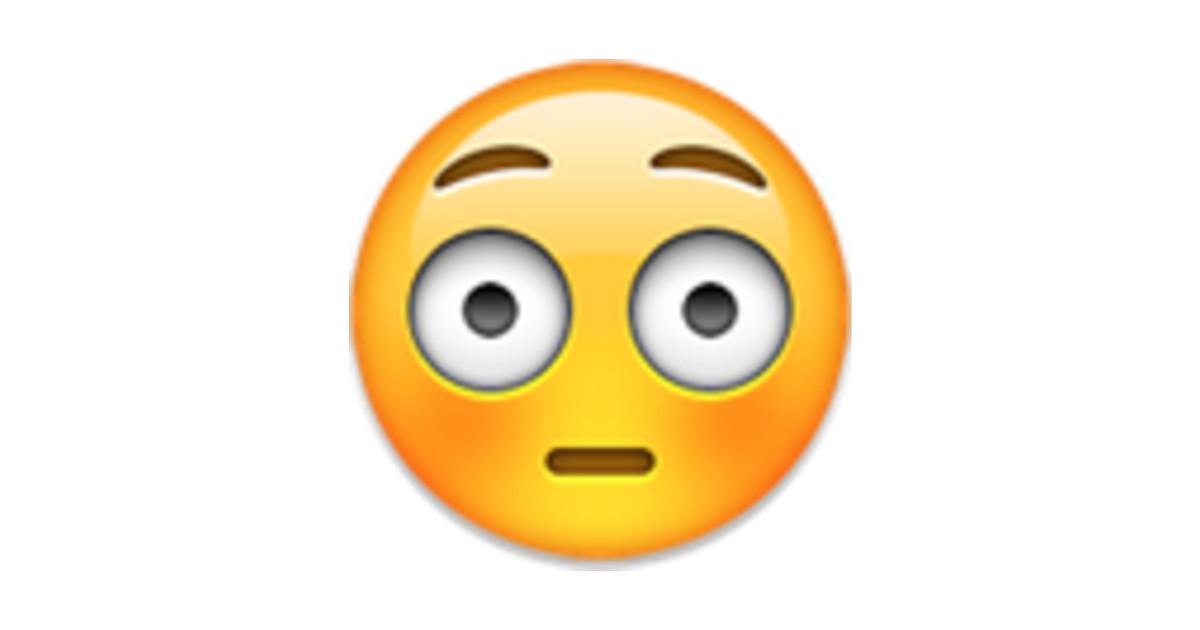 flushed face - Emoji
