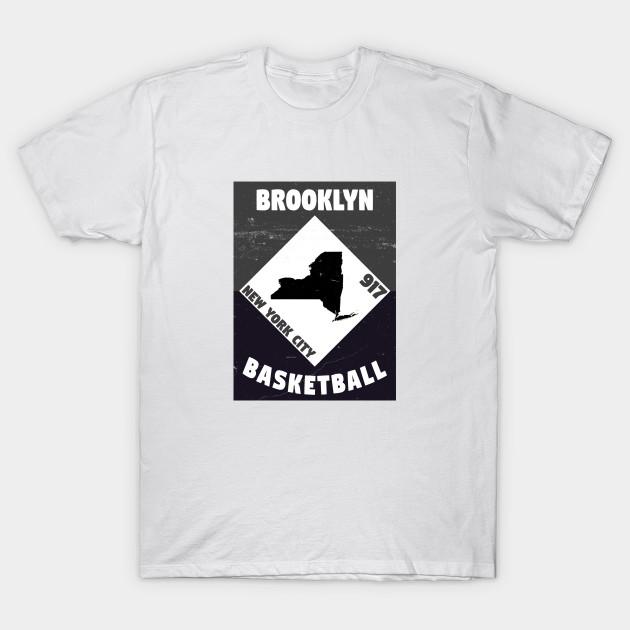 31f54f22 Brooklyn Basketball Vintage - Brooklyn - T-Shirt   TeePublic