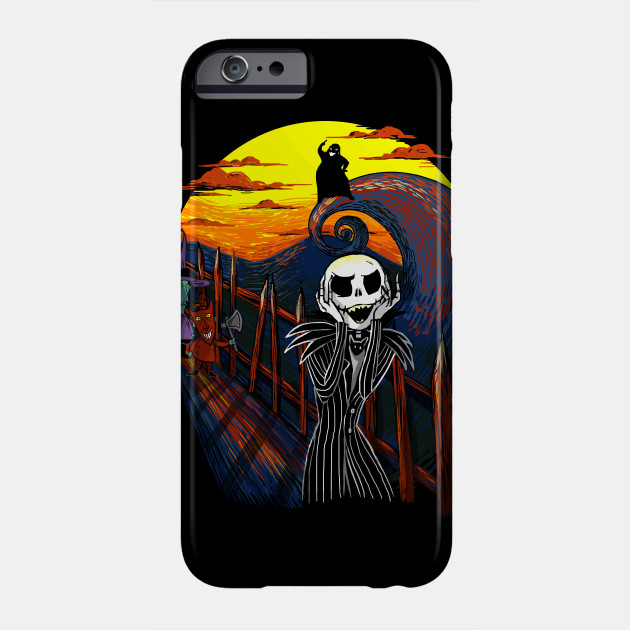 Nightmare Before Christmas Phone Case.The Scream Version Jack The Nightmare Before Christmas