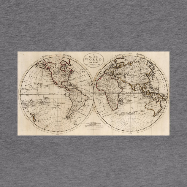 Old Fashioned World Map World Map Hoodie TeePublic - Old time world map
