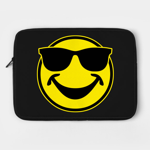 a56125076d1a COOL yellow SMILEY BRO with sunglasses - Smile - Laptop Case | TeePublic