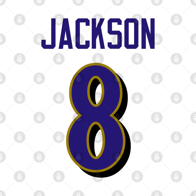 NFL Lamar Jackson Baltimore Ravens Jersey Number