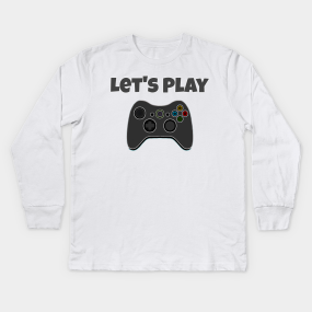 Video Game Control Freak Gaming Funny Gamer Youth Kids Long Sleeve T-Shirt