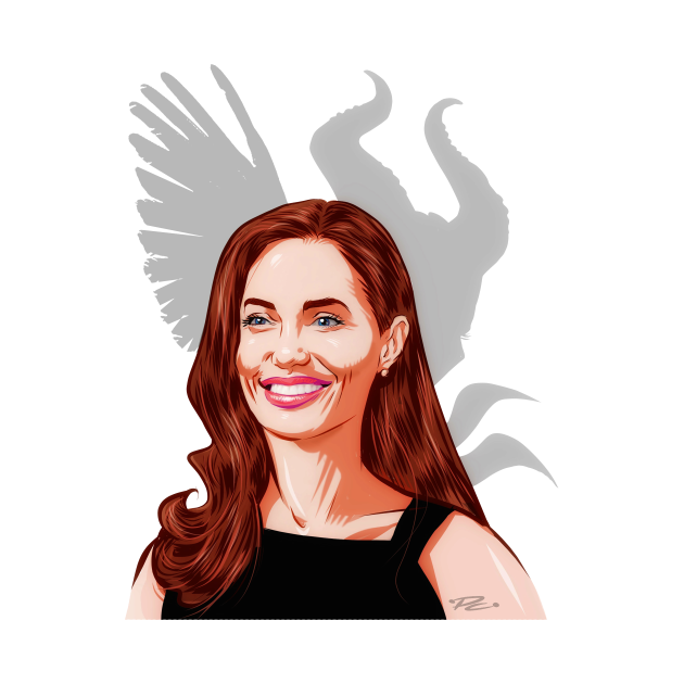 Angelina Jolie - An illustration by Paul Cemmick