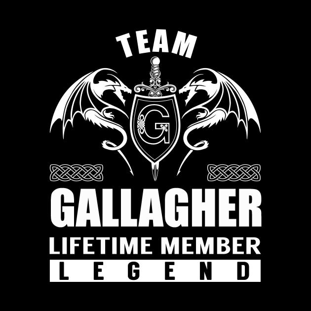 Team GALLAGHER Lifetime Member Legend
