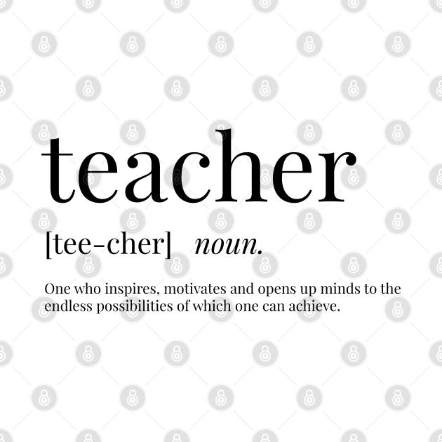 Teacher Definition