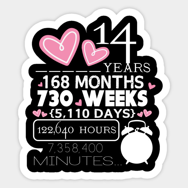 14th Year Wedding Anniversary Gift: 14th Wedding Anniversary Shirt 14 Years Anniversary