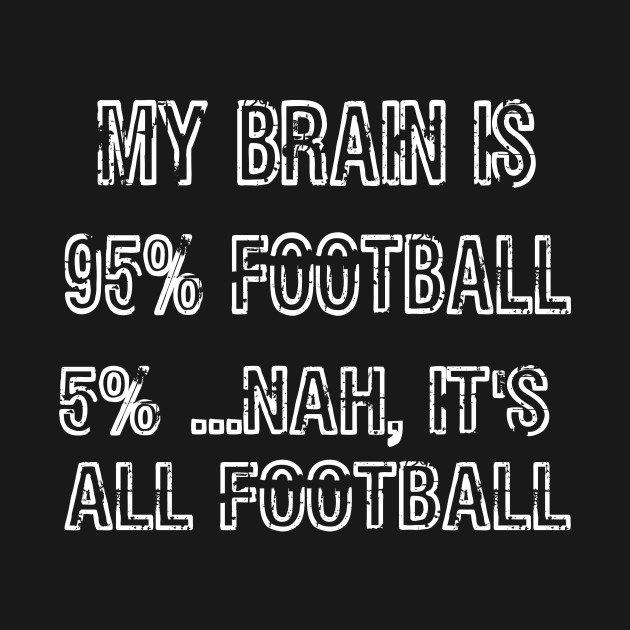 My Brain is 95% Football