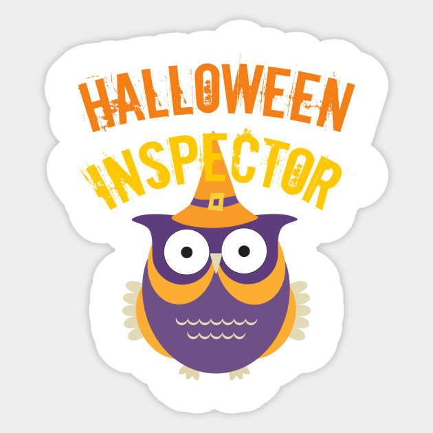 Halloween Inspector Cute Witch Owl
