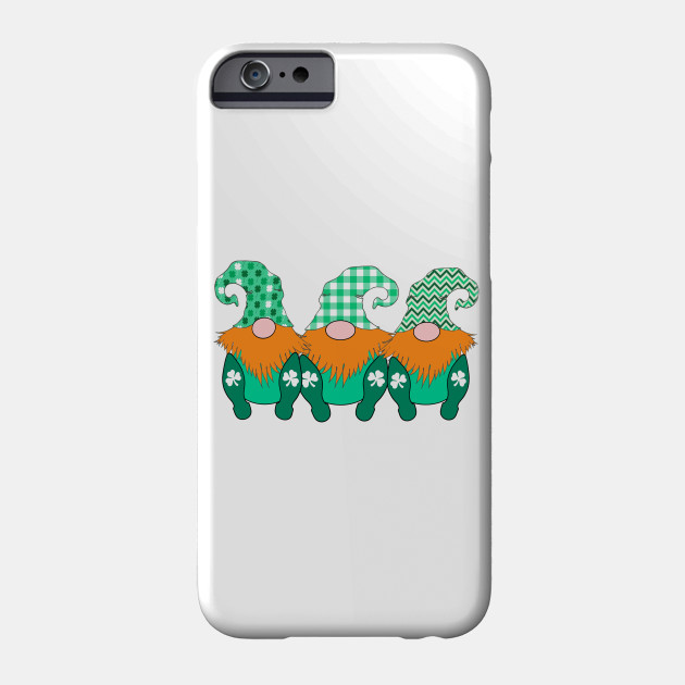 3 Cute Irish Gnomes Leprechauns St. Patrick's Day Phone Case