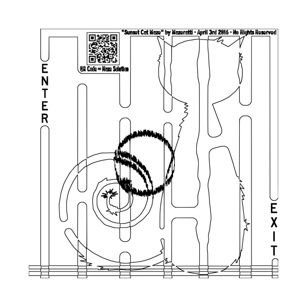 LIMITED EDITION. Exclusive Cat Sunset Coloring Maze - Cat ...