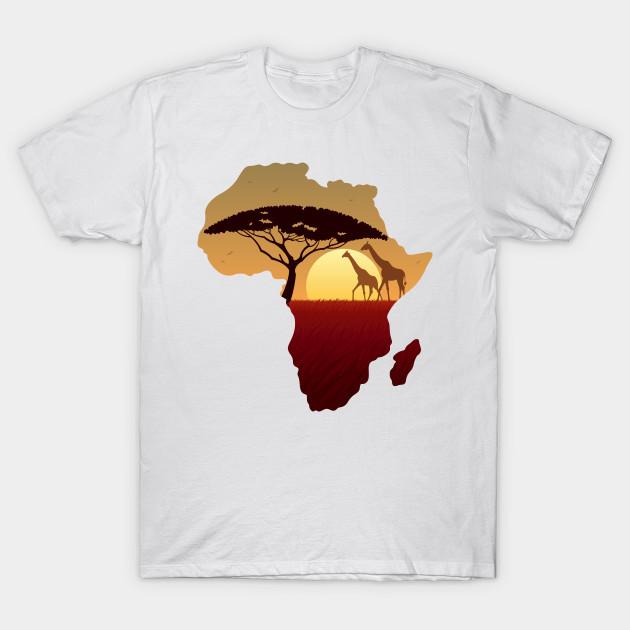 Africa Map Landscape   Africa   T Shirt | TeePublic