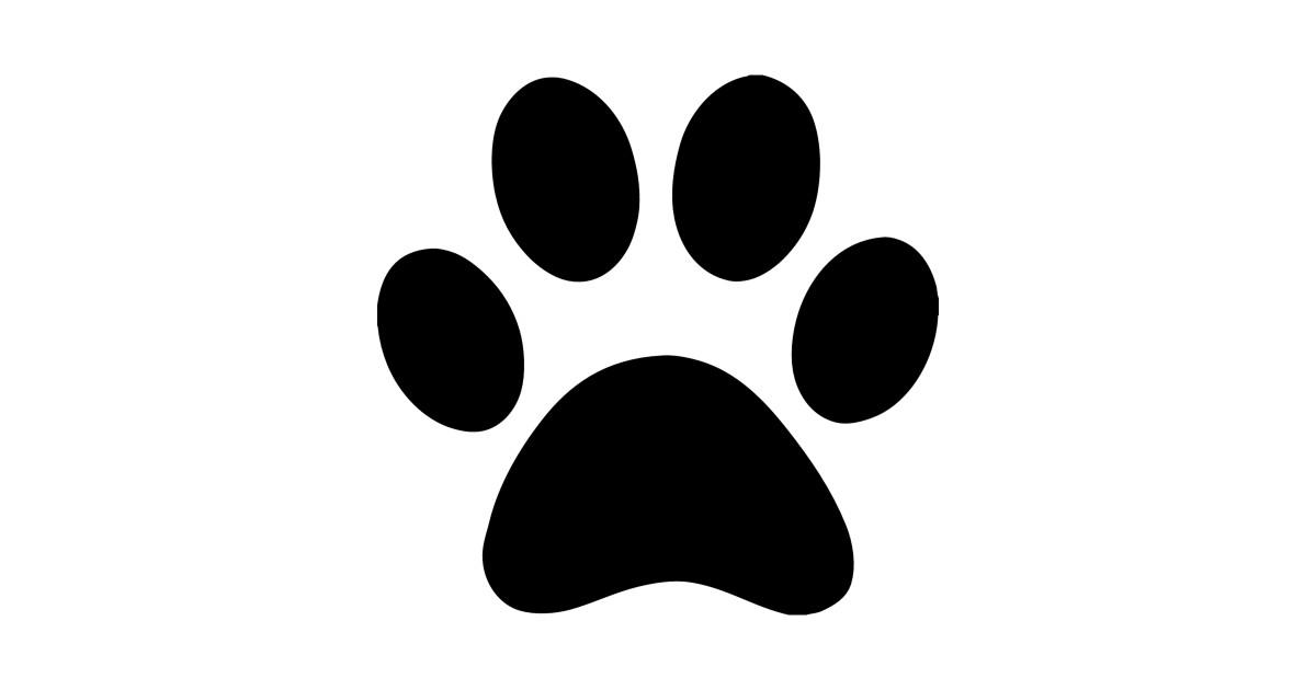Dog Paw Print Silhouette by australianmate