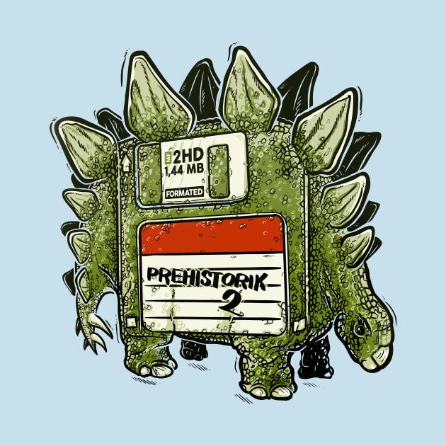 Prehistoric diskette