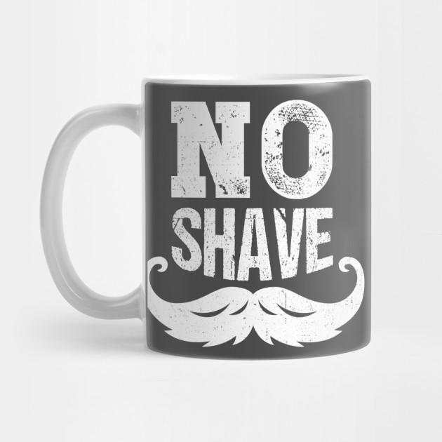 Bearded Man Design No Shave Statement Gift Idea by plimplom