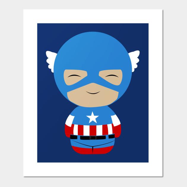 Captain America Dorbz Captain America Posters And Art Prints Teepublic Uk