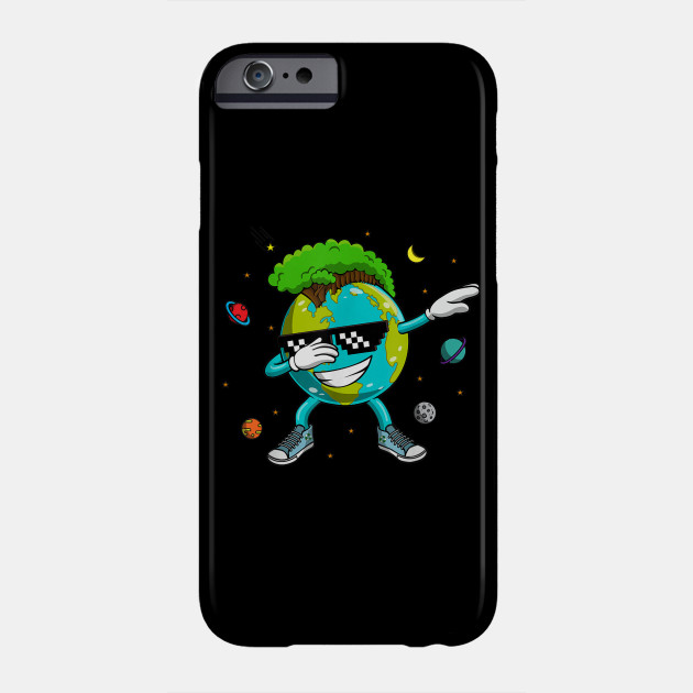 Dabbing Earth Recycling Conversation Space Science T-Shirt Phone Case