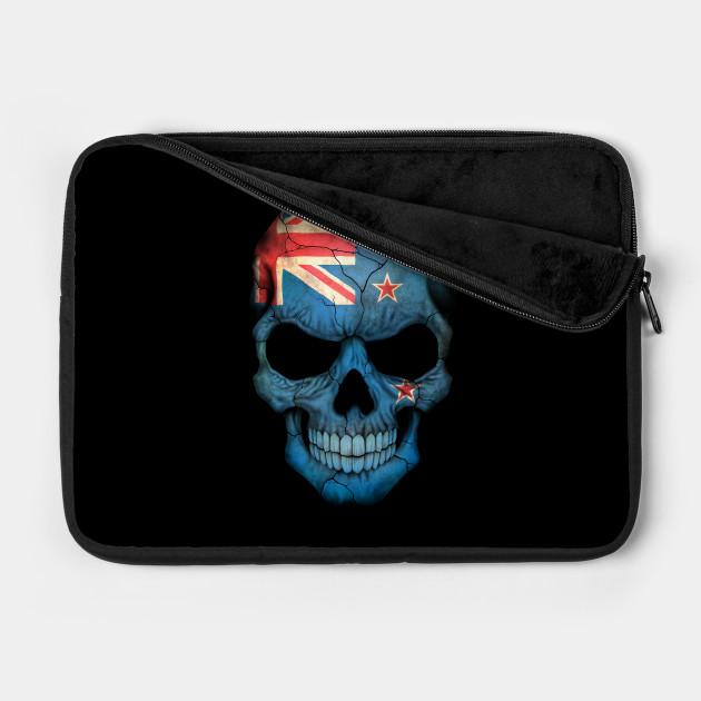 New Zealand Flag Skull