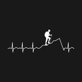 49de7847342 Heartbeat Hiking - Cool Design For The Next Hike T-Shirt