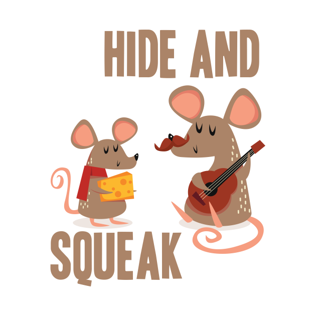 Hide Cheese Mouse Squeak Funny Guitar