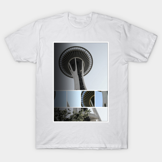 Seattle Space Needle Mosaic T-Shirt Designed and Sold by Christine aka stine1