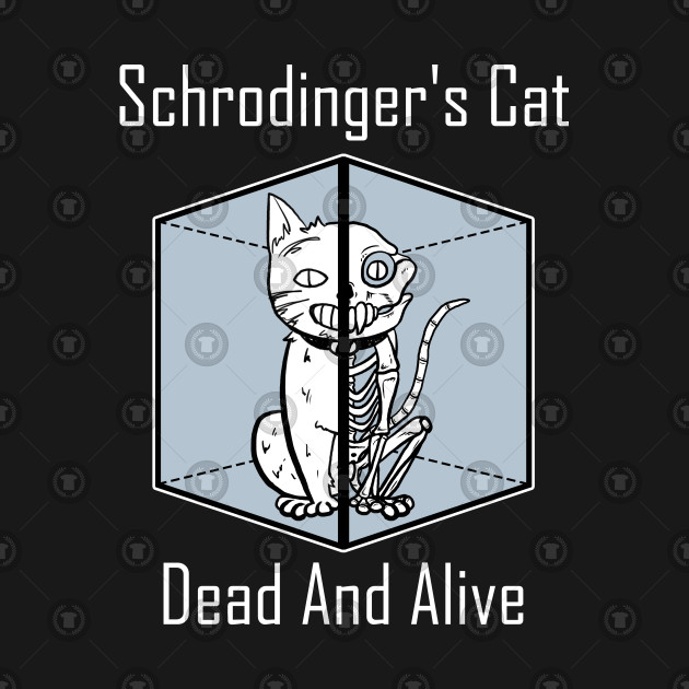 Schrodinger's Cat Dead And Alive Shirt Cat Lover Funny Science Geek Kitty Kitten Tshirt Gift Tee