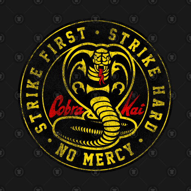 d4a85225 Cobra Kai Never Dies - faded - Karate Kid - T-Shirt | TeePublic