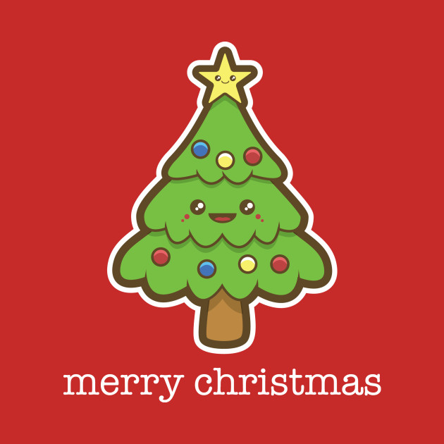 Kawaii Christmas Tree Childrens Kids Long Sleeve T Shirt Teepublic