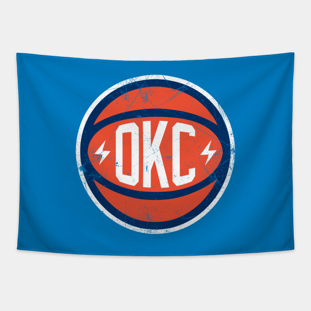 OKC Retro Ball - Light Blue